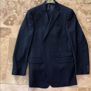 Calvin Klein 42XL suit navy blue slim fit